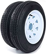 Set of 2 Trailer Tires & Rims 4.80-12 480-12 4.80 X 12 12