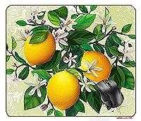 25X30cm Mouse Pad Mouse Mat Flower Lemon Art Toolkit