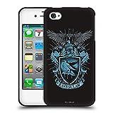 Head Case Designs Licenciado Oficialmente Harry Potter Ravenclaw Reliquias de la Muerte XIV Funda de Gel Negro Compatible con Apple iPhone 4 / iPhone 4S