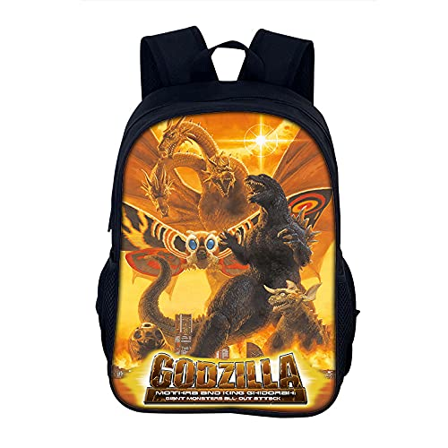 YCHH Primary and Secondary School Cartoon Bag Godzilla Girl and Girl High Volume Youth 40 Cm Bag