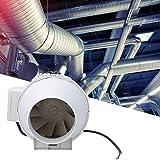 Ventilatore da 4 pollici, Ventilatore da condotto ad aria compressa a pressione obliqua di...