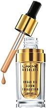 Lakme Absolute Argan Oil Serum Foundation with SPF 45, Silk Golden/Cool Tan, 15ml