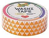 Folia 26104–Washi Tape, Hot Foil Cobre Triángulo, Aprox. 5m x 15mm