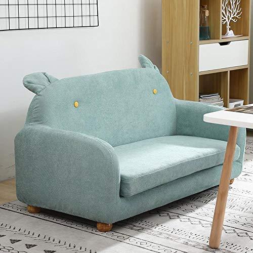 Diaod Área de Lectura de jardín de Infantes sofá habitación de bebé Dormitorio Doble Individual Asiento Infantil Creativo sofá para niños Lavar y Lavar (Color : B)