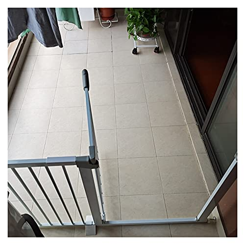 Puerta De Seguridad del Balcón Valla Segura Medida De Seguridad Puerta Divisoria, Ajuste De Presión Puertas De Escalera por Perro Bebés, 21 Tamaños (Color : White, Size : 181cm-188cm)