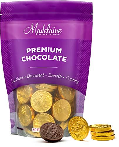 Madelaine Premium Solid Milk Chocolate Gold Coins (Medium Coins, 1/2 LB)