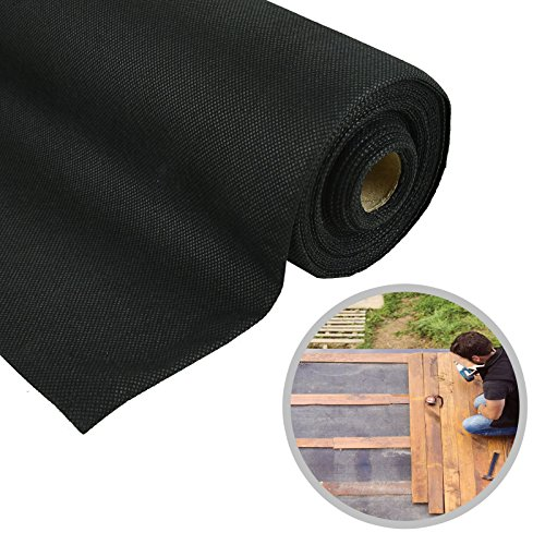 ASAB Weed Control Membrane | Non Toxic Ground Cover Roll | Landscape Fabric Garden Orchard | Lightweight Durable | Breathable (1m x 25m)