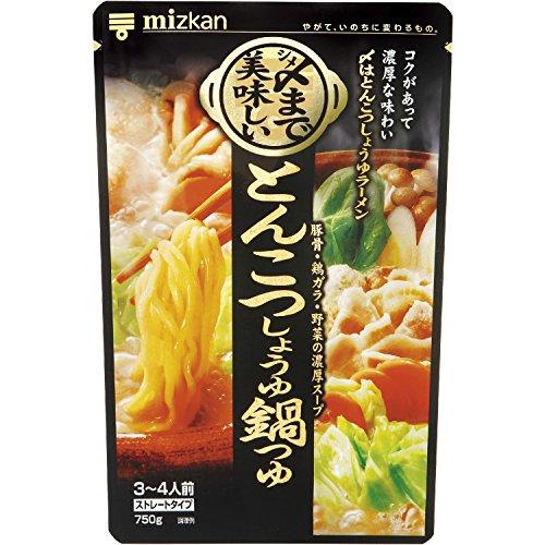 ミツカン 〆まで美味しい とんこつしょうゆ鍋つゆストレート 750g