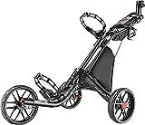 CADDYTEK Facil-plegable Carrito de golf 3 Rueda empuje cart , gris oscuro