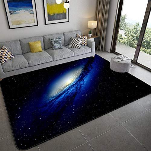 CVMFE Teppich Flur Galaxy Space Stars Muster Teppiche Für Wohnzimmer Schlafzimmer Teppich Kinderzimmer Spielmatte Weiche Flanell 3D Gedruckt Home Large Carpet-8_100 X 150 cm