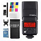 Godox TT350N - Cámara flash Speedlite TTL GN36 2.4G HSS 1/8000s para Nikon sin espejo DDSLR D810 D800 D750 D700 D610 D7100 D5200 D90 y sin cámara de espejo digital