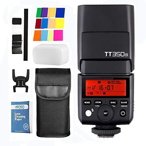Godox TT350N Caméra Flash Speedlite TTL GN36 2.4G HSS 1 / 8000s pour Nikon sans Miroir DDSLR D810 D800 D750 D700 D610 D7100 D5200 D90 et sans caméra à Miroir numérique