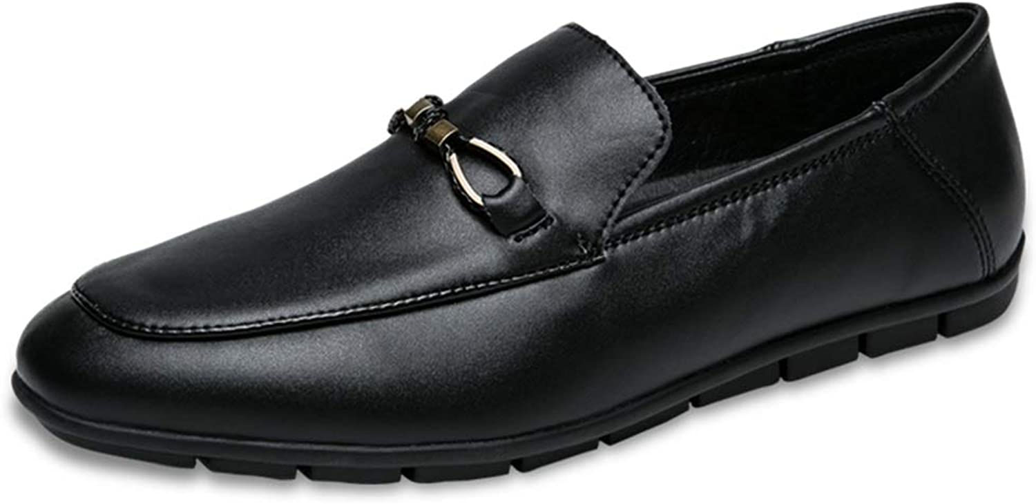 Ino Durable Driving Loafer for Men Boat Moccasins Slip On Style OX Leather Metaldecor Comfortable Round Toe