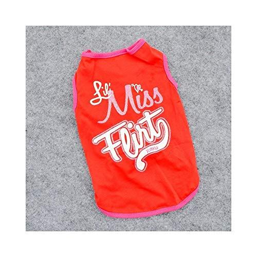 W.Z.H.H.H Haustier Kostüm Welpenkleidung Hundebekleidung Großhandel Hundebekleidung Günstiger Preis Baumwollweste Haustier T-Shirt Haustier-Kleidung (Color : Red, Size : M)