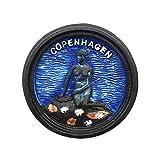 Recuerdo del imán del refrigerador de 3D Copenhague Dinamarca, Regalo de la colección del imán del refrigerador de la Sirena de Dinamarca Etiqueta magnética Decoración de la Cocina del hogar