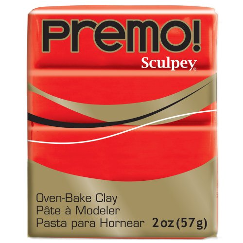 Premo Sculpey Polymer Clay 2 Ounces-Cadmium Red