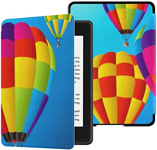 Gloednieuwe Kindle Paperwhite Waterbestendige stoffen hoes (10e generatie, uitgave 2018), Vector Hot Air Balloons Sky Tablet Case