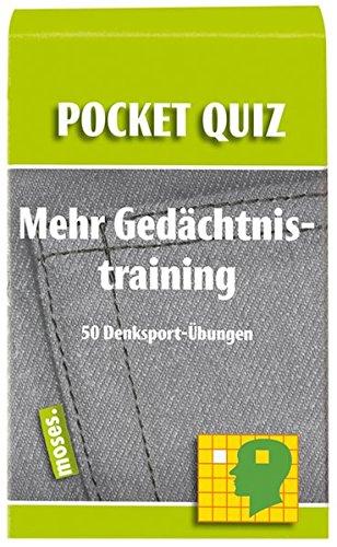 Mehr Gedächtnistraining. Pocket Quiz: 50 Denksport-Übungen (Pocket Quiz / Ab 12 Jahre /Erwachsene)