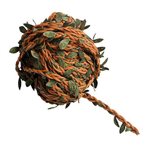 Serenable 22yards Artificial Ivy Vine Leaf Garland Plants Fake Foliage Flower Rattan Decor - Brown