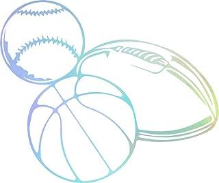 USC DECALS Baseball Basketball Football (Hologram) (Set of 2) Premium Waterproof Vinyl Decal Stickers for Laptop Phone Accessory Helmet Car Window Bumper Mug Tuber Cup Door Wall Decoration