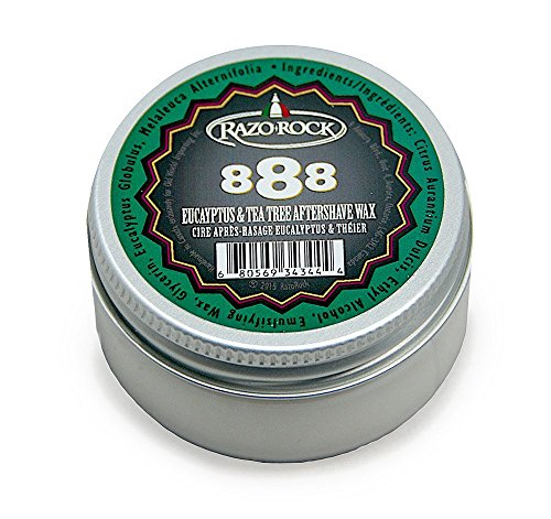 RazoRock 888 Eucalyptus And Tea Tree Aftershave Wax