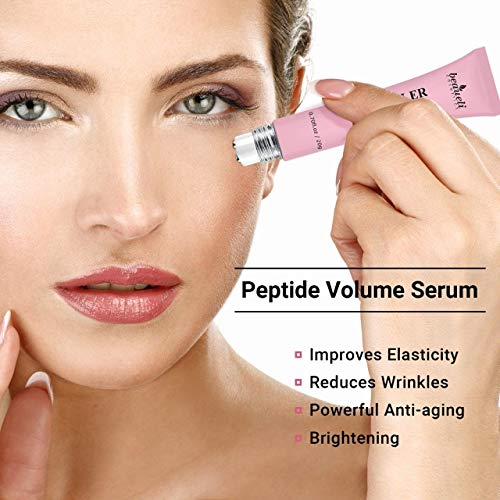 51AzEIkDH L - Eye Serum & Eye Roller for Anti Aging Dark Circles Puffiness Under Eye Bags Wrinkles Eye Cream Massager with Peptide Hyaluronic Acid Niacinamide 0.7 fl.oz by beaueli