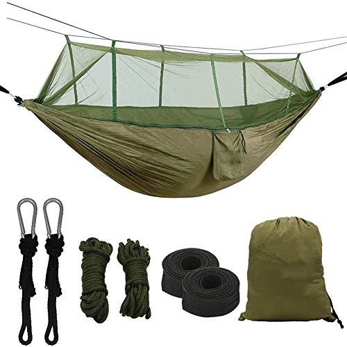 Camping hangmat met klamboe, tweepersoons Iqammocking Bed Tent draagbare kinderbed voor ontspanning, reizen, vrije tijd buiten