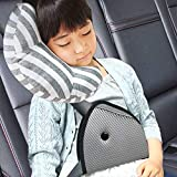 DODYMPS Car Seat Travel Pillow Neck Support Cushion Pad and Seatbelt Adjuster for Kids, Safety Belt Sleeping Pillow and Adjuster for Cars, Safety Strap Covers (2 PCS)
