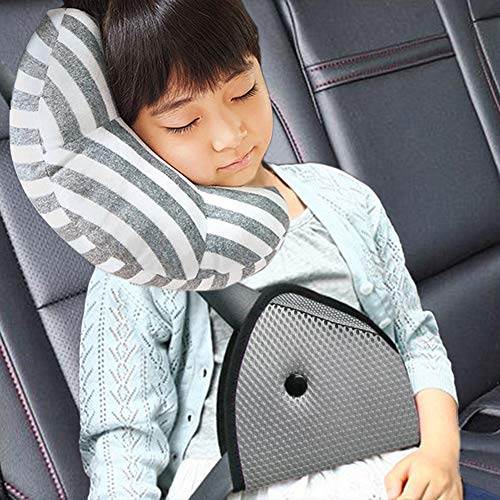 Protect Neck and Shoulder rubbing Seat Belt Covers Cushion for boy Girl Anti-Slip Design Car Seat Strap Pads Covers for Baby Kids Universal for Stroller//Carrier//Pushchair Black