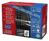 Konstsmide mini catena luminosa LED, con Multi funzione, dispositivo di controllo E funzione Memory, 40bianca calda & 40diodi a luce bianca fredda, trasformatore esterno 24V, cavo nero 6404–150