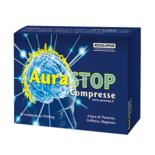 AuraStop Compresse - Integratore naturale contro MAL di TESTA - CEFALEA - EMICRANIA