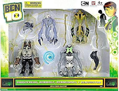 tienda Ben 10 Exclusive 4 Inch Inch Inch Action Figure 4Pack Set  96252 Ghostfreak, Benwolf, Benmummy Benvicktor  selección larga