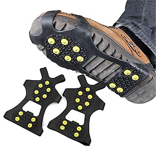 Tacos de TraccióN Hielo Tacos de Livianos Agarre Zapatos Antideslizante RáPida Y FáCilmente Sobre El Calzado - Las Pinzas Hielo PortáTiles Se Pueden Usar A -40 C, para Caminar Sobre Hielo (Size:L)