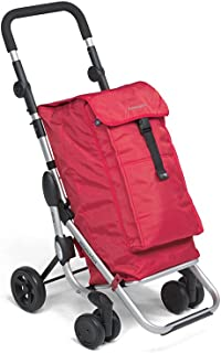 Foppapedretti GO UP 9702000300-Carrito de la Compra, Color Rojo, Compuesto, 63x41x27 cm