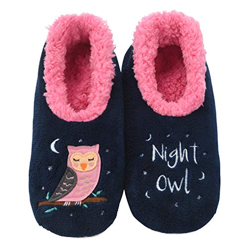 Snoozies Pairables Womens Slippers - House Slippers - Night Owl - Small