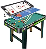 N/Z Equipo Diario Juego de Mesa de combinación de múltiples Juegos Mesa de Juego Interior 3 en 1 Mesa de Entretenimiento 32'para Mesa de Billar Mesa de Tenis Tobogán Hockey para niños