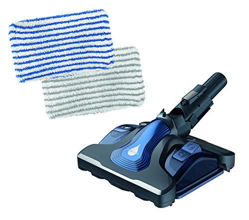 Rowenta ZR009600 Aqua Head für X-Force Akku-Staubsauger | gleichzeitig saugen und wischen | abnehmbarer Wassertank | vorwärts und rückwärts saugen | inkl. 2 Mikrofasertücher | Blau/Grau