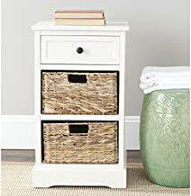 Safavieh American Homes Collection Carrie Distressed Cream Side Storage Side Table