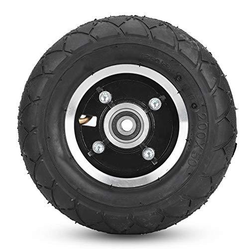 Elektroroller Reifen, 8 Zoll Full Core Advanced Aluminium Nabenreifen Symmetrische Figur Gummi Elektroroller Reifen ohne Gas