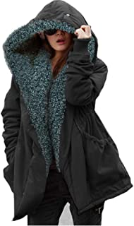 Women's Teddy Bear Casual Shearling Coat Jacket Long Sleeve Lapel Fluffy Fur Outwear