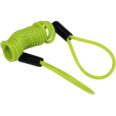 Color : Blue HCZ Bike Spring Cable Lock Anti-Theft Rope Alarm Disc Lock Bicycle Security Reminder Motorcycle Theft Protection