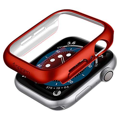 Spigen Thin Fit Kompatibel mit Apple Watch Hülle fur 44mm Serie 6/SE/5/4 - Rot