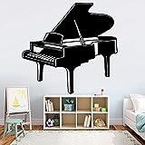 Piano pared pegatina empresa escuela decoración del hogar instrumento musical pared pegatina dormitorio fondo pegatina A6 43x42cm