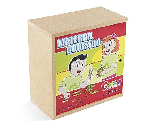 Carlu Brinquedos - Material Dourado Jogo de Construção, 5+ Anos, 611 Peças, Multicolorido, 1105