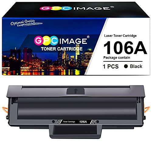 GPC Image Compatibili Cartuccia di Toner Sostituzione per HP 106A W1106A per Laser 107w 107a 107r MFP 135a 135r 135w 137fnw 135wg 137fwg (Nero, 1-Pack)