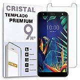 REY Protector de Pantalla para LG K40, Cristal Vidrio Templado Premium