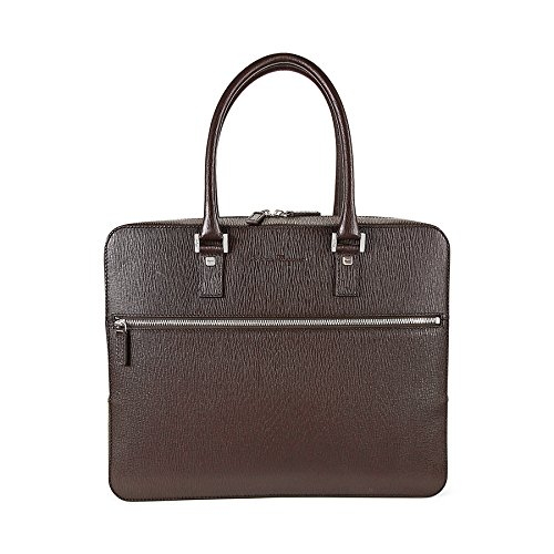 Salvatore Ferragamo Revival Calfskin Briefcase (Fondente)