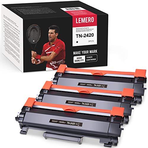3 LEMERO Compatibile TN-2420 TN2420 TN2410 [con Chip] Cartucce di toner per HL-L2310D HL-L2350DN HL-L2370DN HL-L2375DW MFC-L2710DN MFC-L2710DW MFC-L2730DW MFC-L2750DW DCP-L2510D DCP-L2530DW