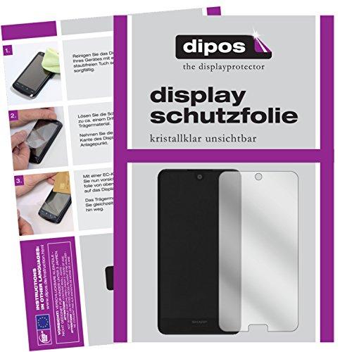 dipos I 6X Schutzfolie klar kompatibel mit Sharp Aquos C10 Folie Bildschirmschutzfolie