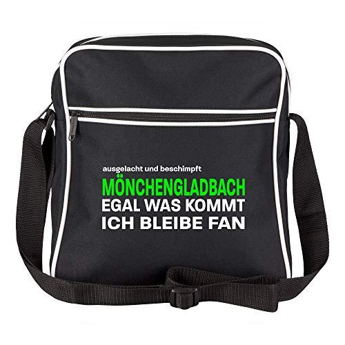 Schultertasche ausgelacht und beschimpft - Mönchengladbach - Egal was kommt, ich bleibe Fan schwarz - Mönchengladbach Mönchengladbacher